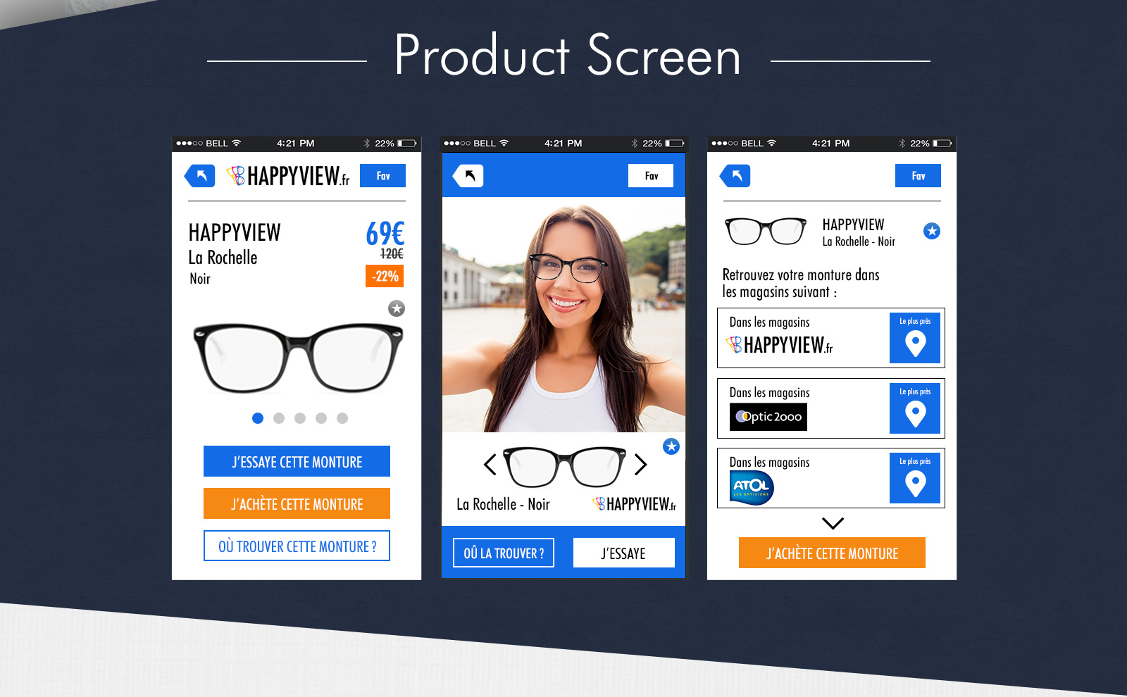 Product Screen Page