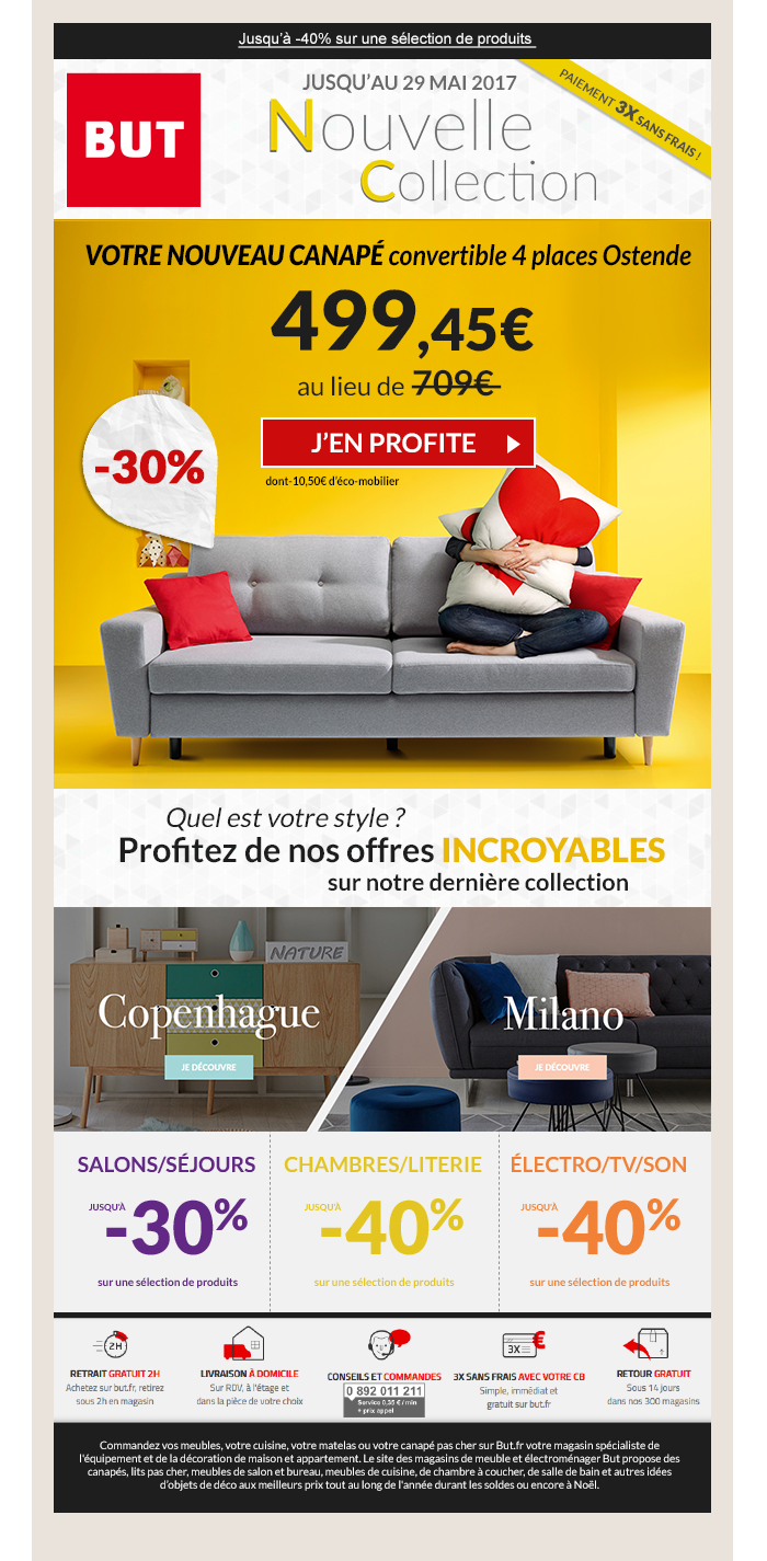 Email BUT La Nouvelle Collection