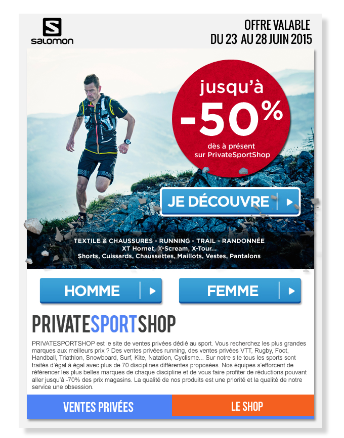 Email Private Sport Shop for Salomon