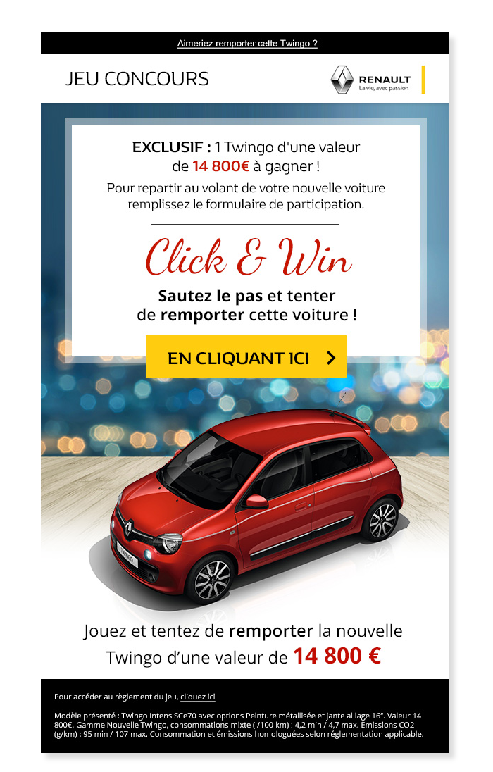 Email Renault Contest