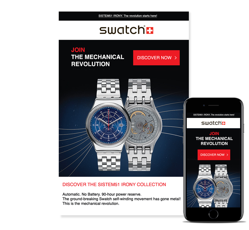 Email Swatch and reponsive design